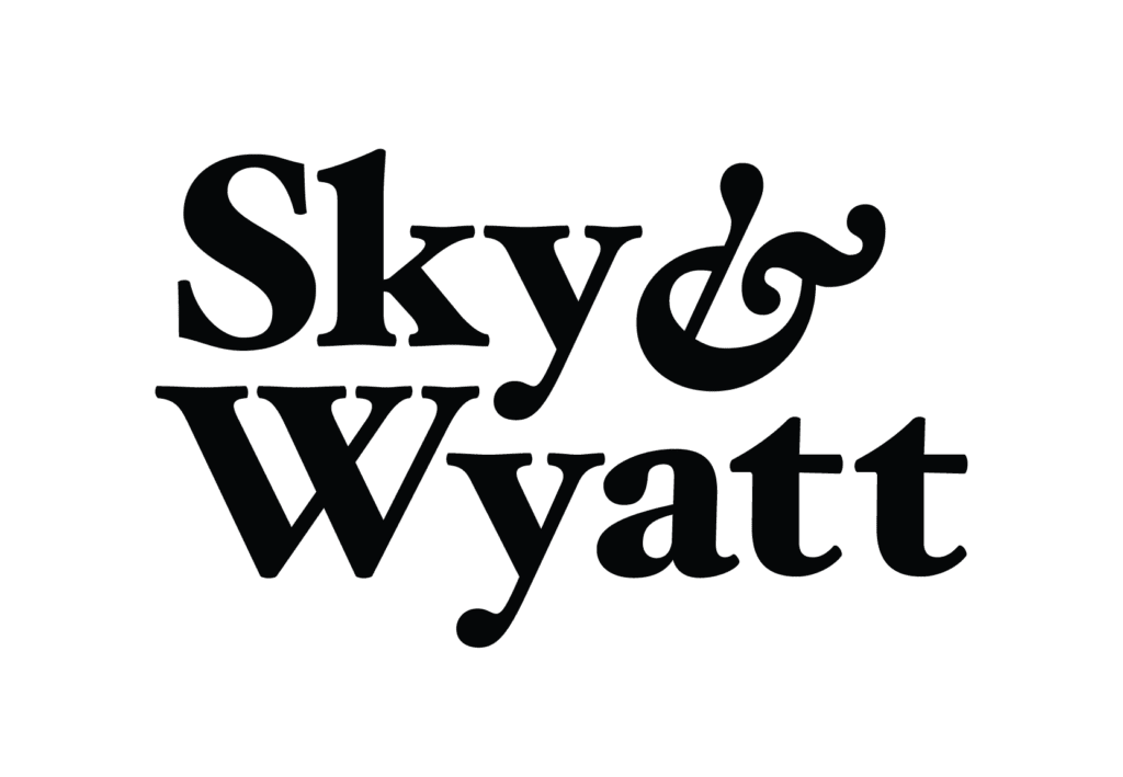 Sky Wyatt Logo Wordmark Stacked Black